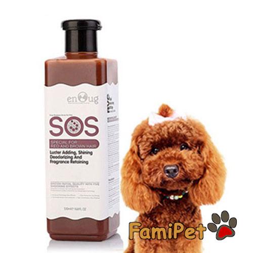 sữa tắm cho chó poodle nâu